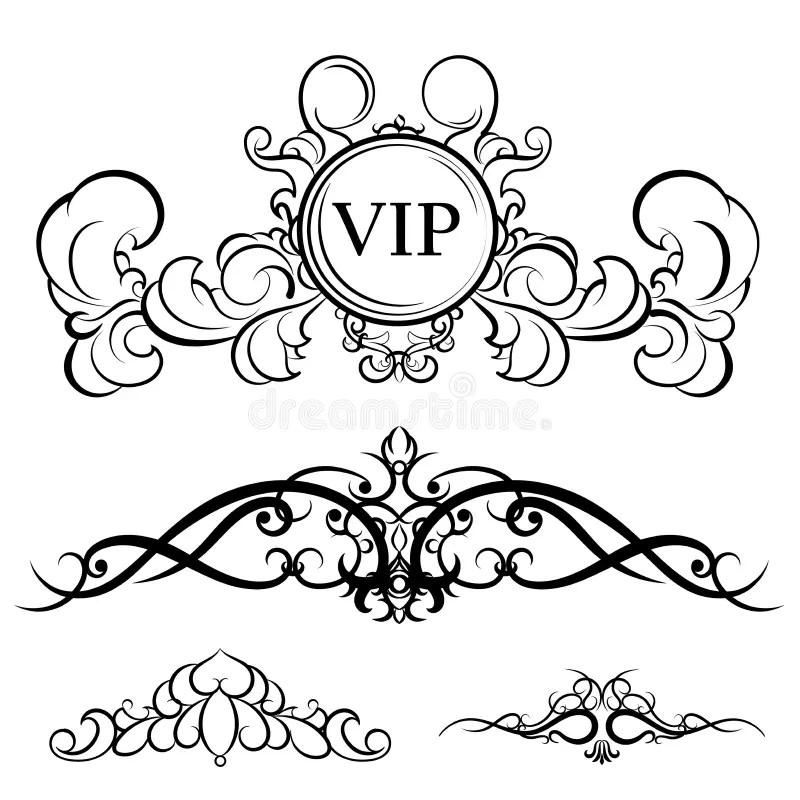 Set Elegance Elements Vector Illustration Stock Vector