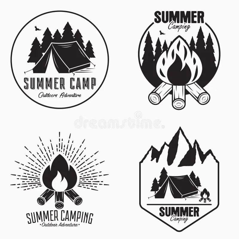 Set Of Vintage Camping Logos. Symbols Of The National Park