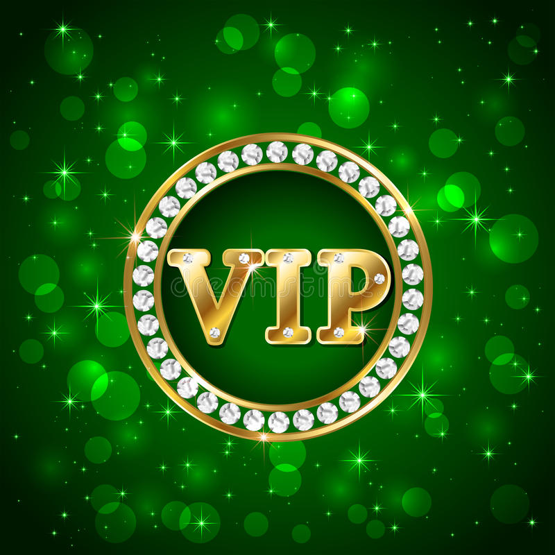 Vip on green background stock vector Image of card party