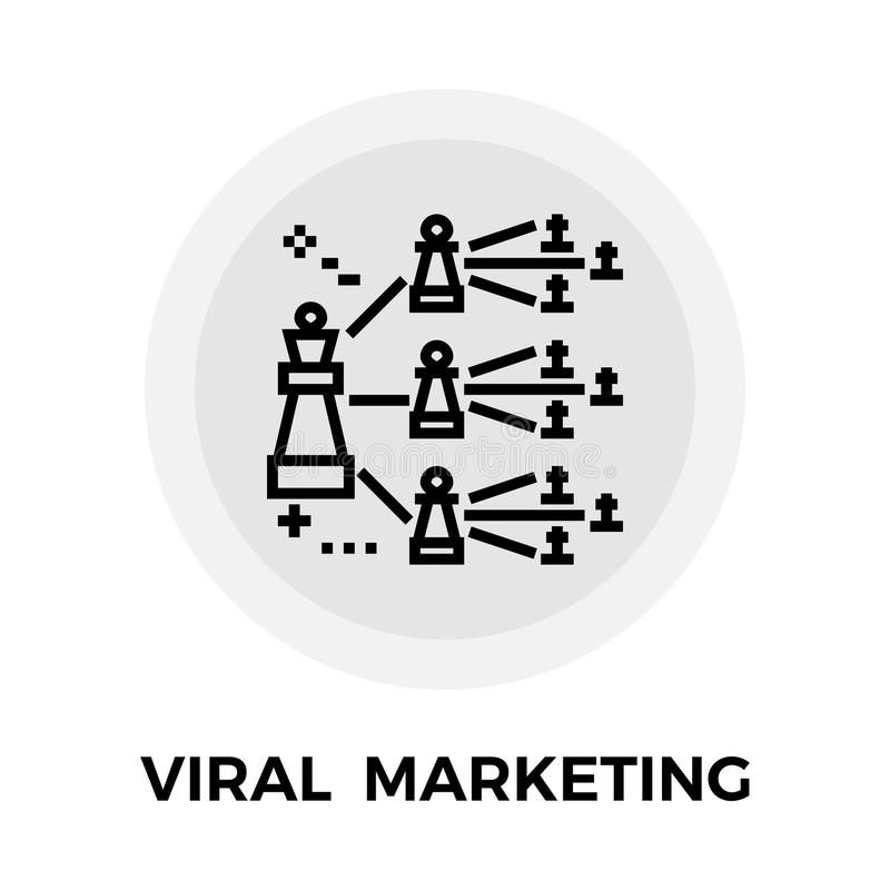 Viral or contact growth stock vector. Illustration of