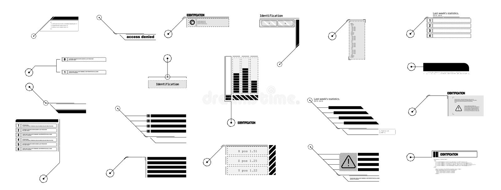Callout text boxes vector. stock vector. Illustration of