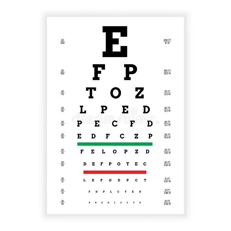Vision test board stock vector. Illustration of