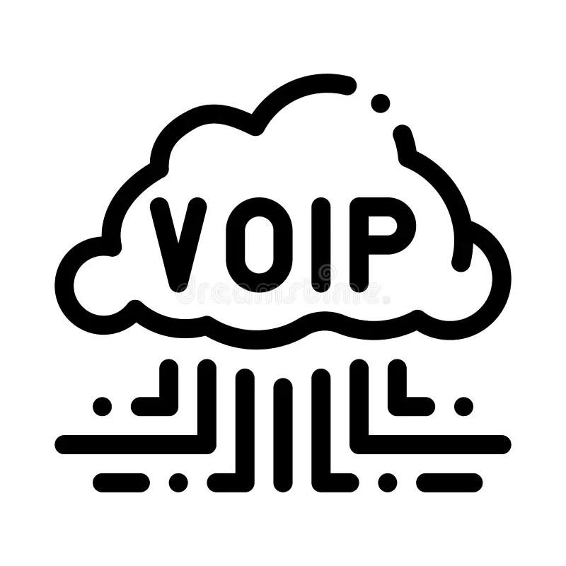 Wireless VOIP Technology Logo Stock Illustration