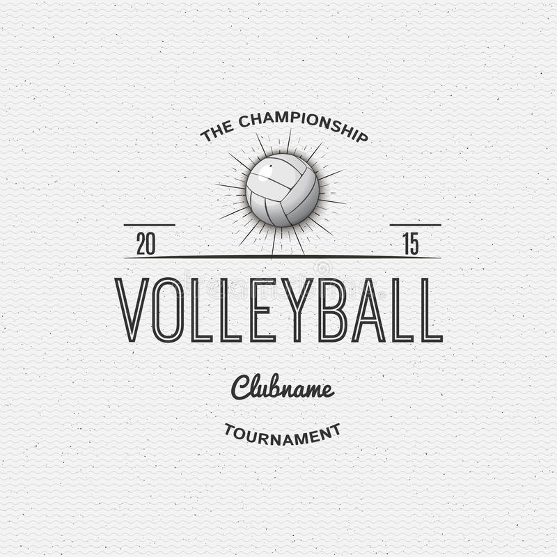 Volleyball League Flyer Illustration Stock Vector