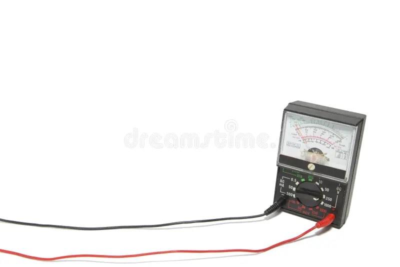 Old Style Voltmeter Gauge. Voltage Meter Of Test Room