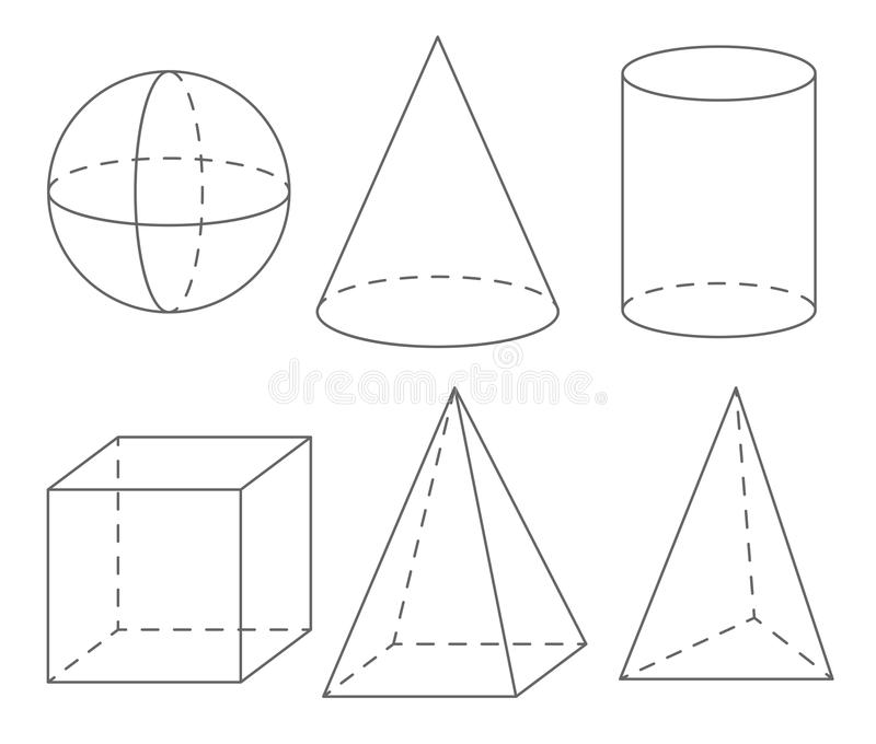 Volume Geometric Shapes: Sphere, Cone, Cylinder, Cube