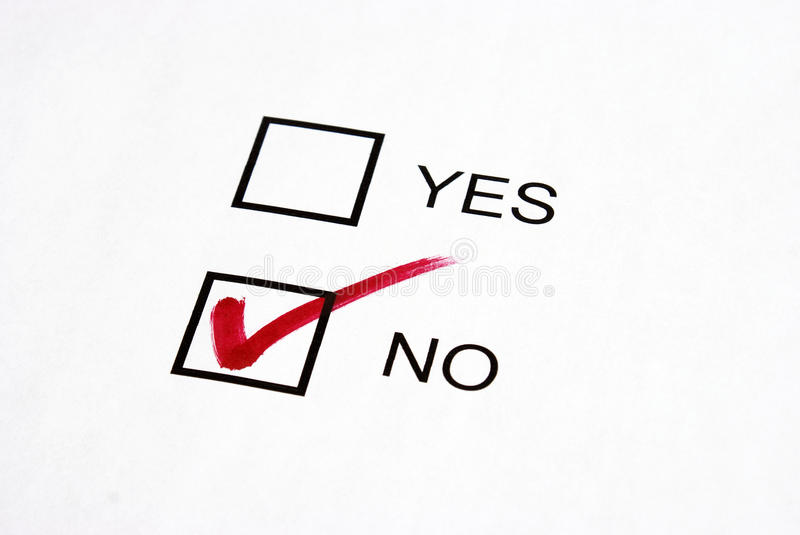 Vote No stock image. Image of checkmark, questionnaire