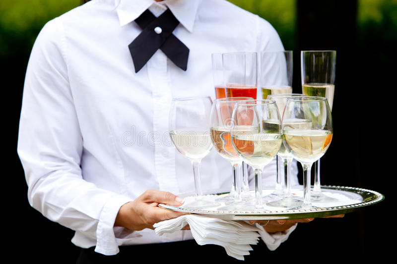 Waiter Serving Drinks  Wedding Series Stock Photo  Image