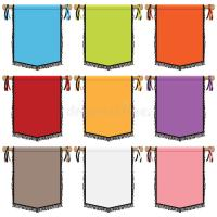 Wall banners stock vector. Image of graphic, purple, blue ...