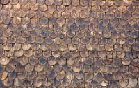 Wall of wooden shingles stock image. Image of design ...