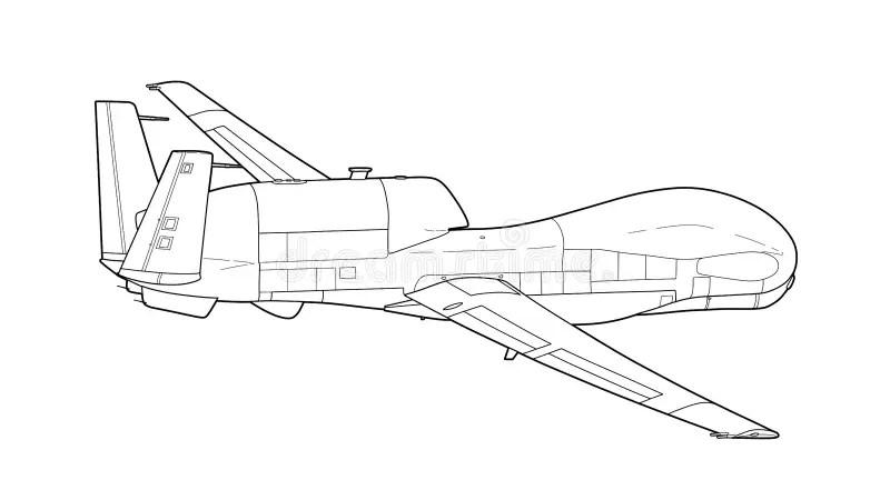 Armed drone stock illustration. Illustration of vehicle