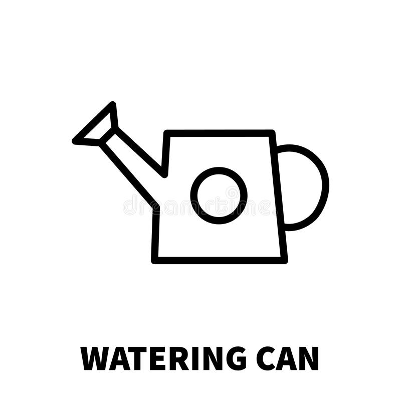 Watering Can Icon Or Logo In Modern Line Style. Stock