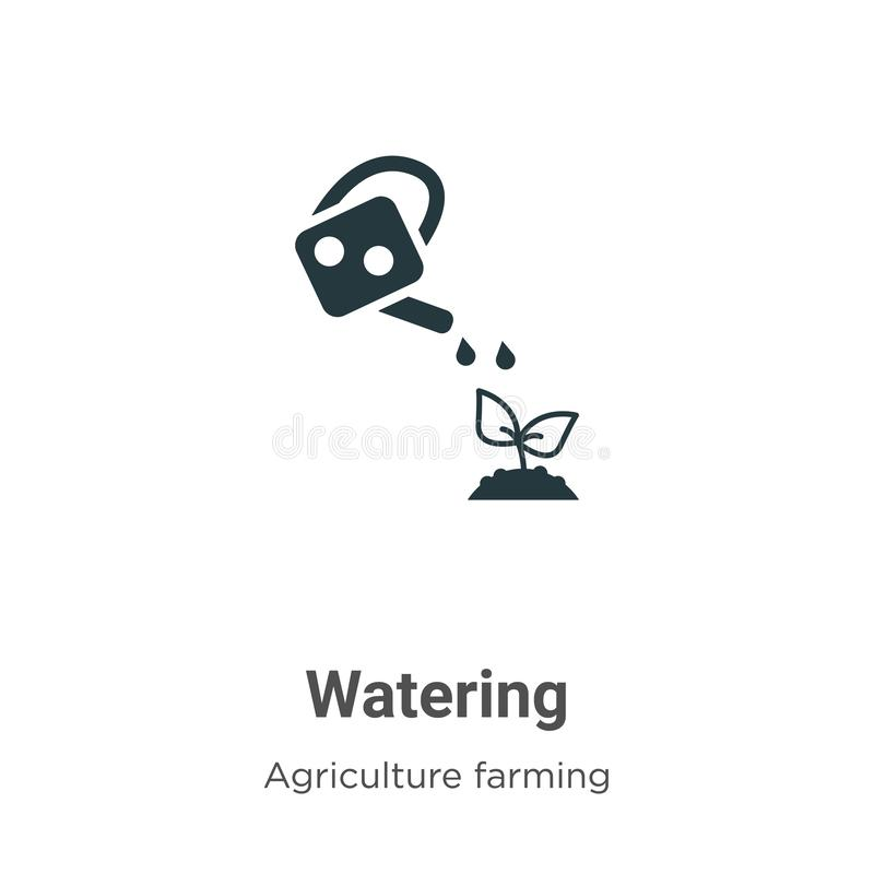 Water Well Vector Icon On White Background. Flat Vector