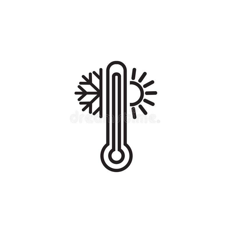 Thermometer Line Simple Icon. Weather Symbols. Meteorology