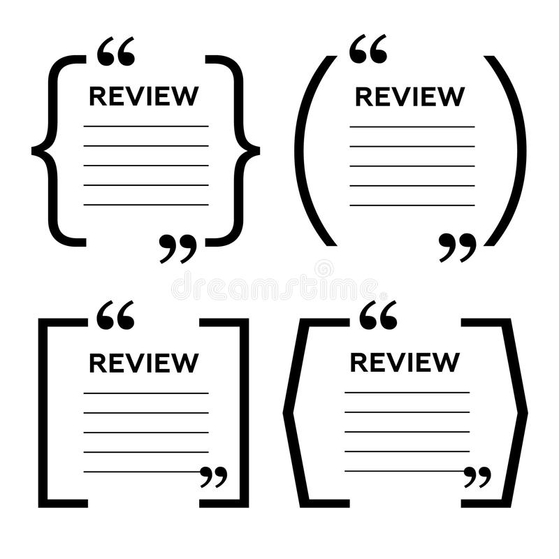 Website Review Quote Citation Blank Template. Website