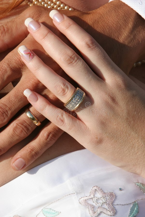 Wedding Couple  Hands And Rings Royalty Free Stock Photos  Image 1744238