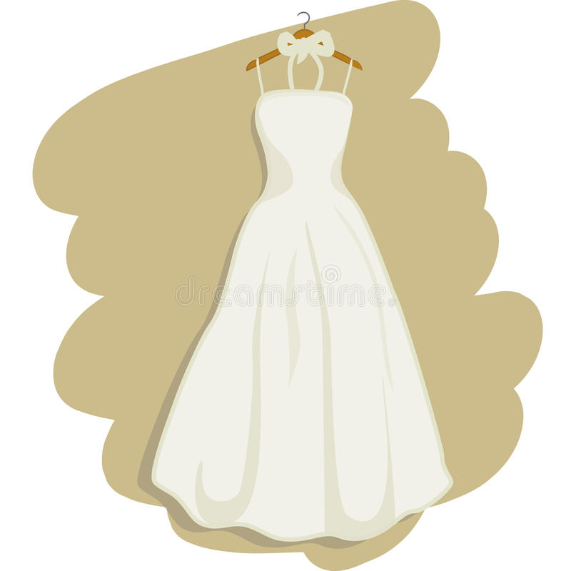 Wedding Dress Vector Stock Photo