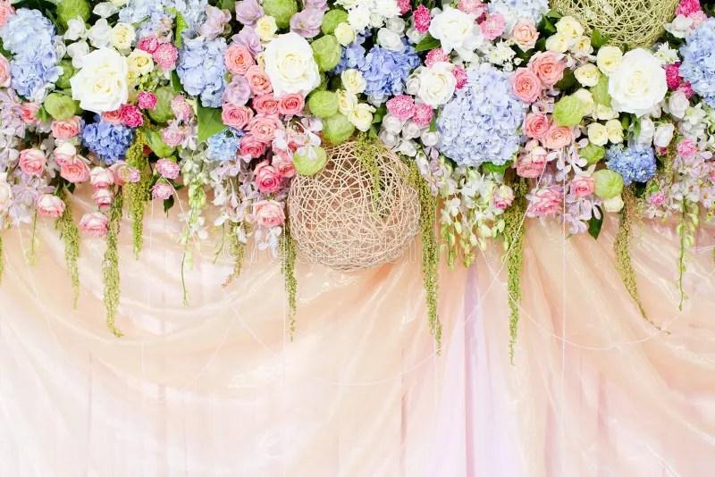 Wedding Flowers Background Stock Photo