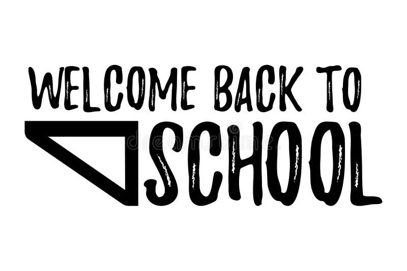 Back To School Typographic Element Stock Vector