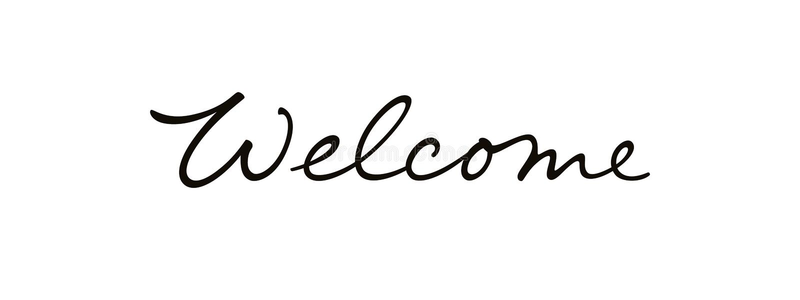 Welcome vector text logo stock vector. Illustration of
