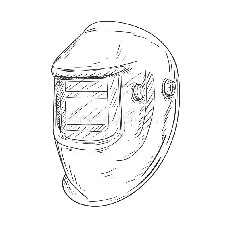 Welding helmet stock vector. Illustration of isolated