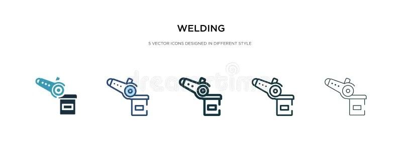 Welding Helmet Icon, Outline Style Stock Vector