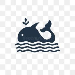 Whale Vector Icon Isolated On Transparent Background Whale Tra Stock Vector Illustration of modern whale: 127346104