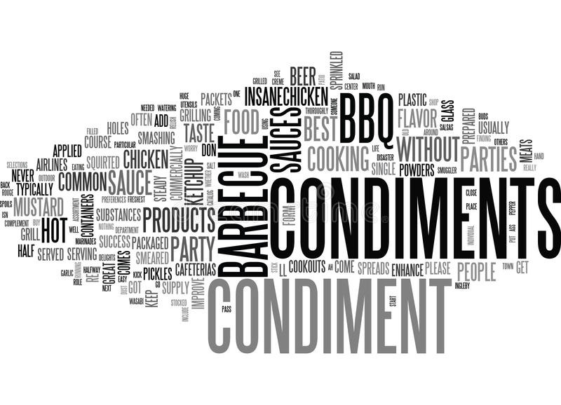 What S A Barbecue Party Without Some Condiments Word Cloud