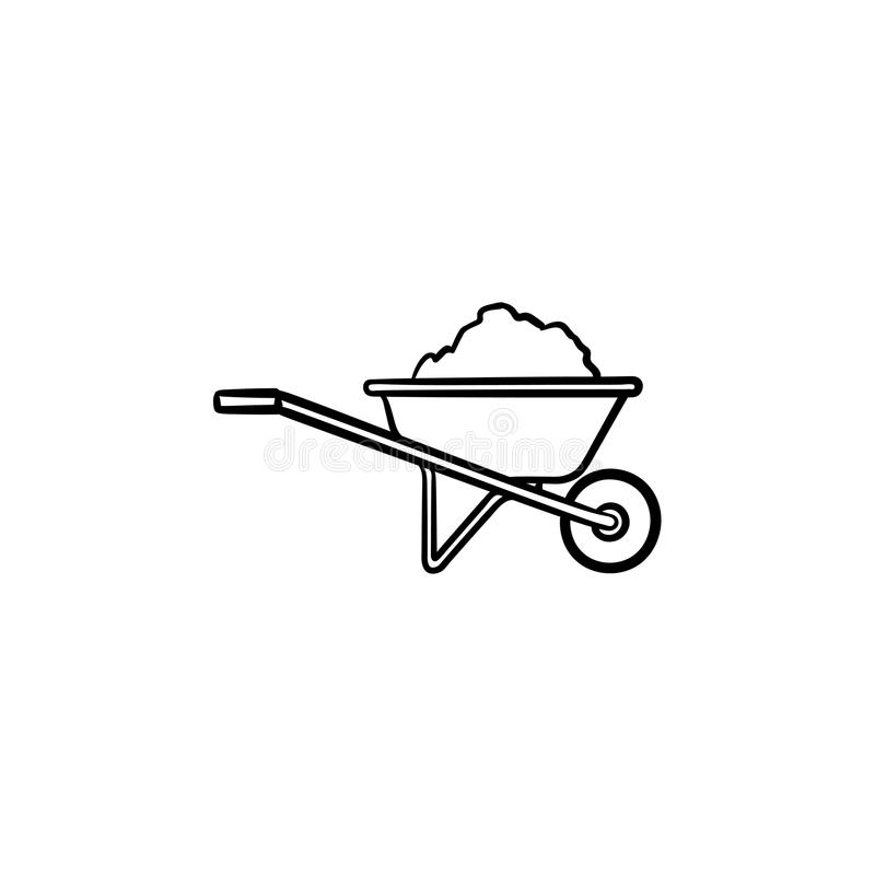pics How To Draw A Simple Wheelbarrow wheelbarrow sketch stock illustrations