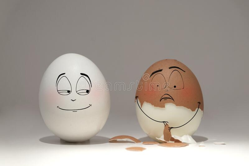 White And Brown Testicles Show Emotions Towards Each Other ...
