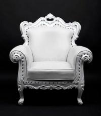 White chair stock photo. Image of white, black, classic
