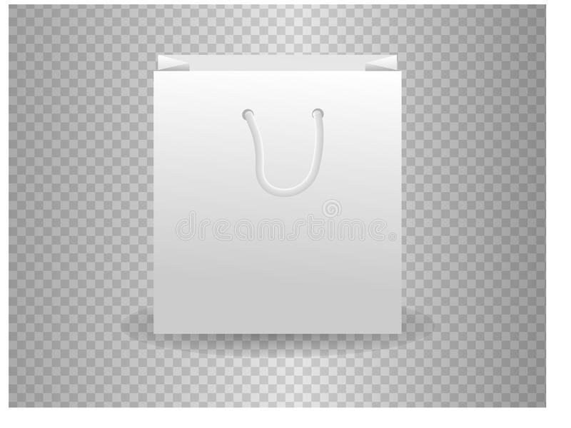 Set of white shopping bags isolated on transparent background. White Paper Bag Mock Up Vector Template For Corporate Identity On Transparent Background Stock Vector Illustration Of Bundle Business 108058483