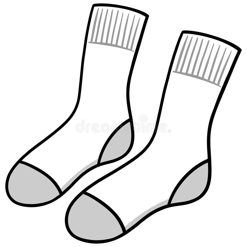 White Socks stock vector. Illustration of foot, warm