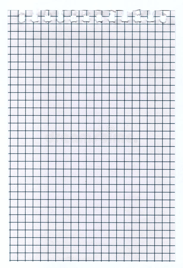 white squared paper sheet
