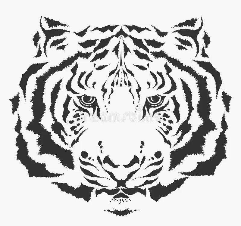 Vector Tiger Face Stock Vector Illustration Of Artistic