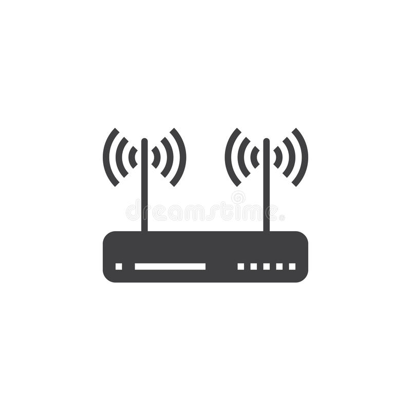 Wifi Router, Wireless Dsl Modem Icon Vector, Filled Flat