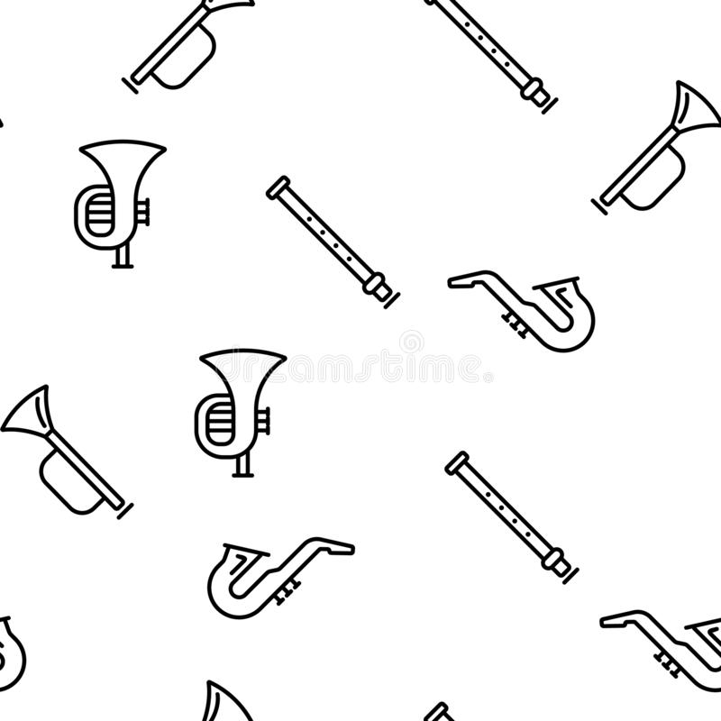 Musical Instruments Vector Stock Illustrations