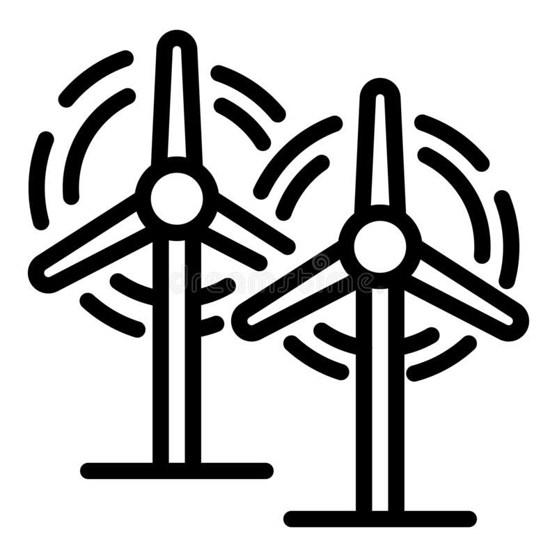 Wind Power Plant Icon stock vector. Illustration of