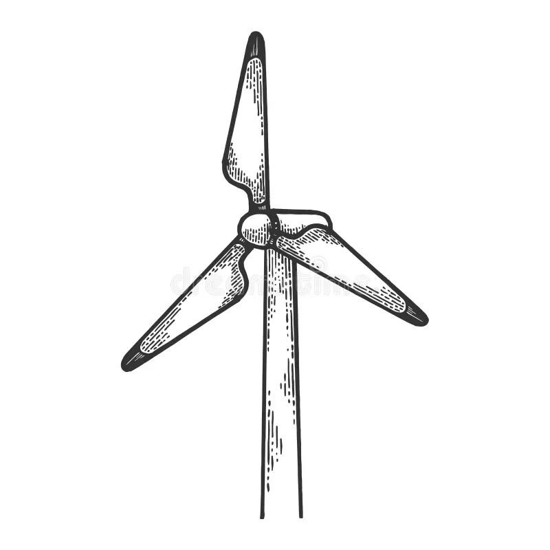 Wind Power Station Isometric Vector Illustration Stock
