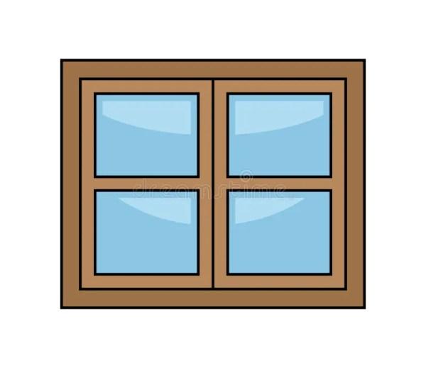 window cartoon vector symbol icon