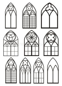 Windows in gothic style stock vector. Illustration of ...