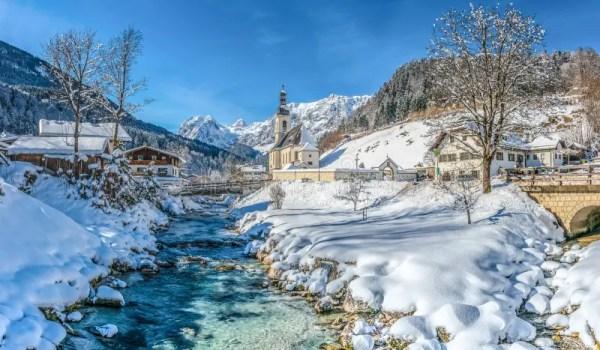 winter landscape in bavarian