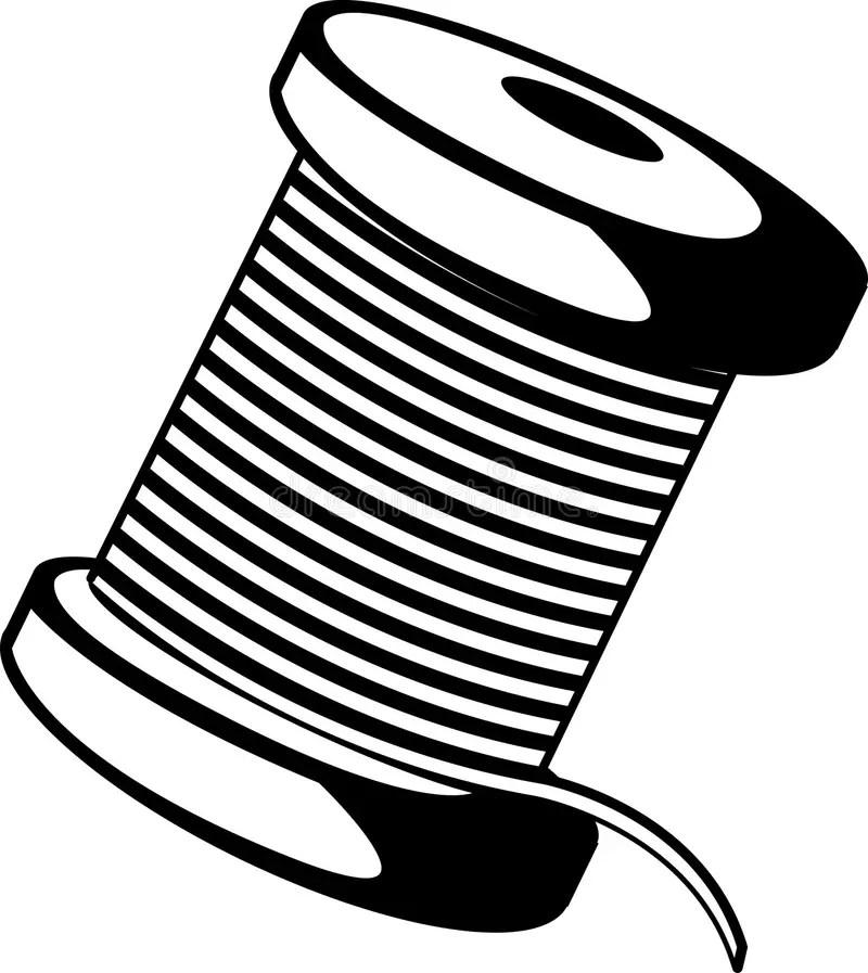 Wire Or Thread Spool Vector Illustration Stock Vector
