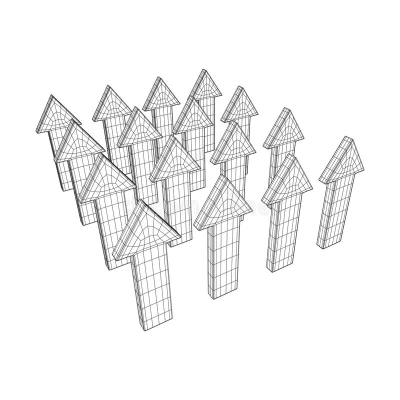 Wireframe Low Poly Mesh Human Cartoon Body Stock Vector
