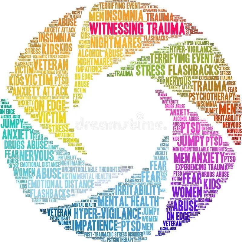 Witnessing Trauma Word Cloud Stock Vector - Illustration of health. trauma: 151645250