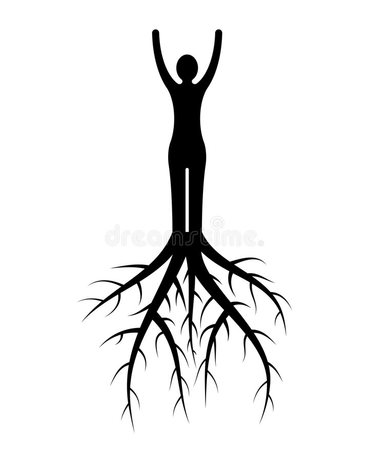 Woman Roots Royalty Free Stock Photography
