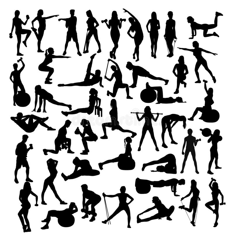 Detailed Vector Illustration Silhouettes Strong Rolling