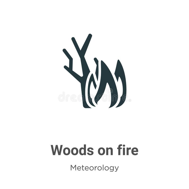 Woods On Fire Icon In Trendy Design Style. Woods On Fire