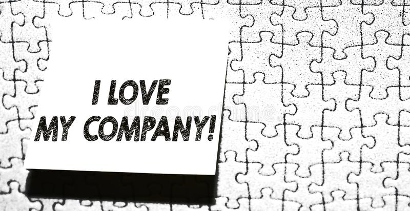 Word Writing Text I Love My Company. Business Concept For