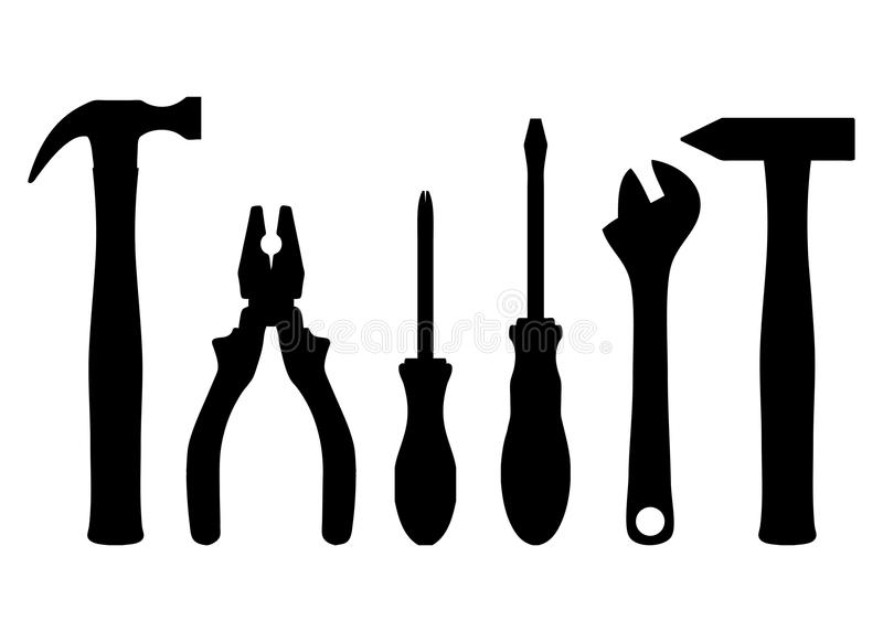 Work tools stock vector. Image of pliers, occupation